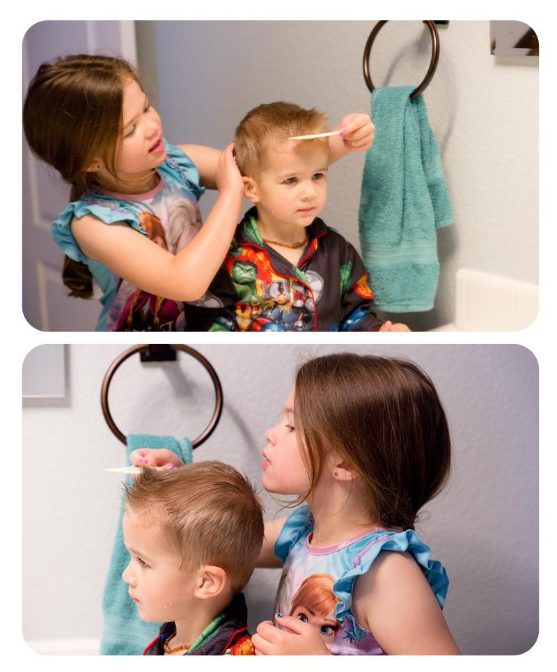 Abby Spiking Luke's Hair