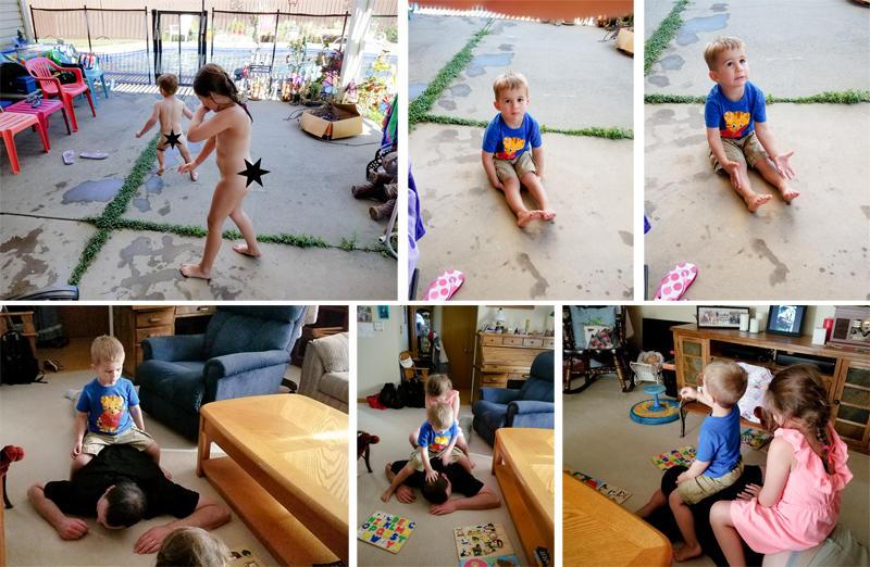 Post Swim Play at Grandma Kathy's