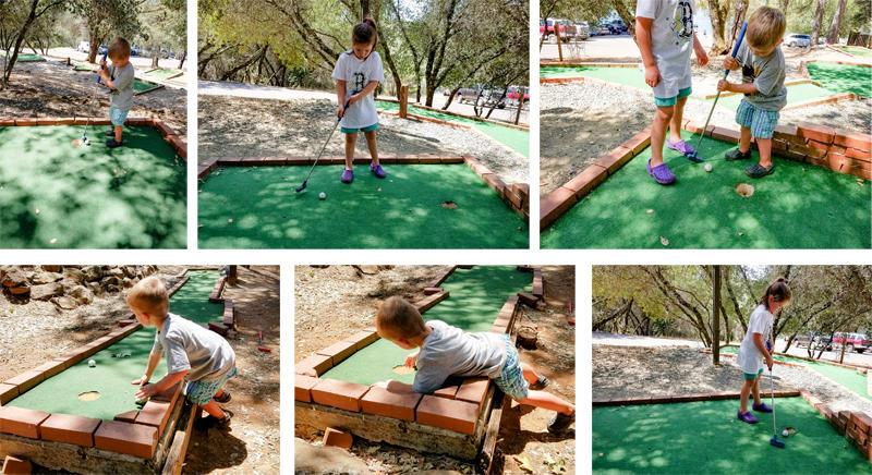 Golfing while Camping