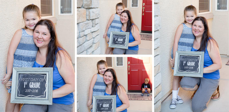 More First Day of School Pictures with Mom