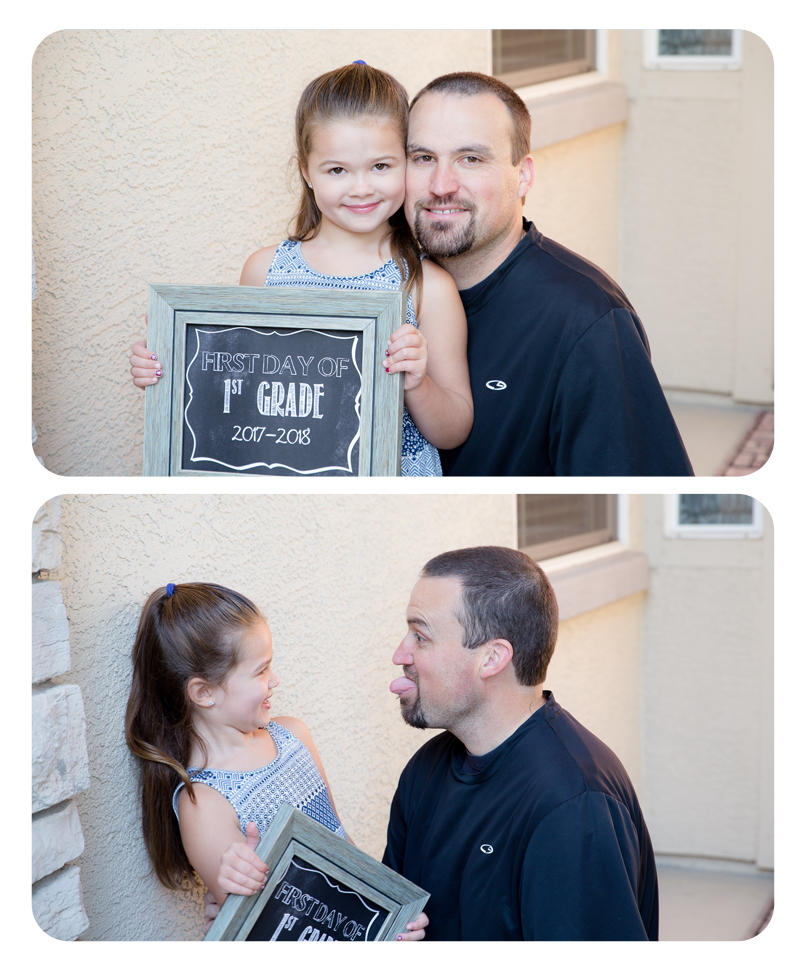 First Day of 1st Grade with Daddy