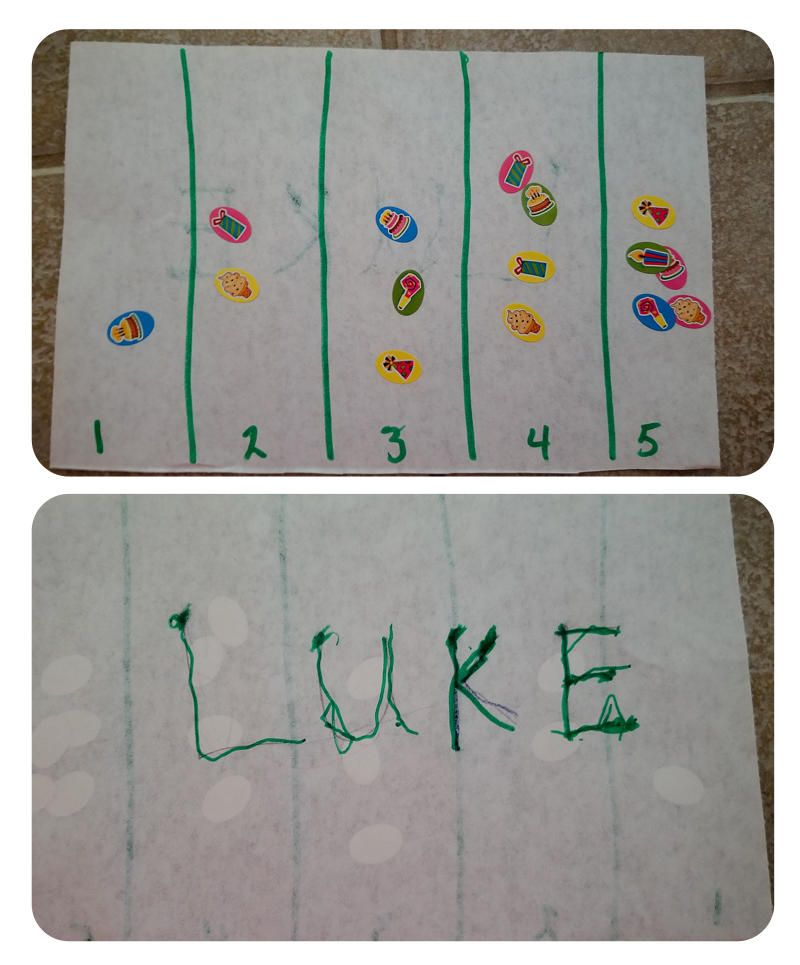 Preschool Math Work