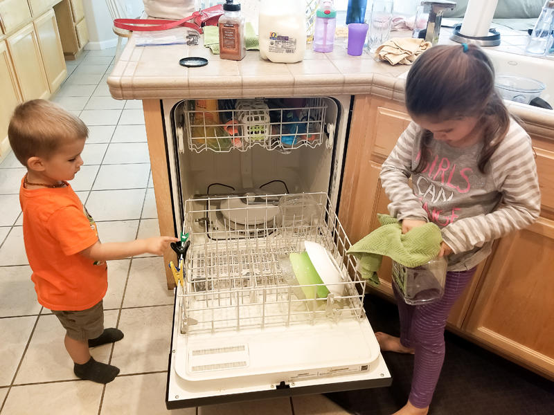 Helping with Dishes