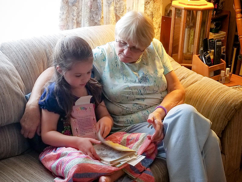 Reading Fairy Books to Grandma