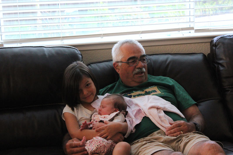 Abigail and Melody and Grampie